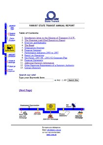 state transit annual report 1997 web page thumbnail