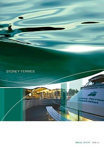 sydney ferries annual report 2007 cover thumbnail