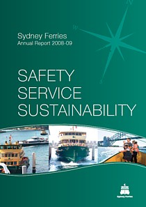 sydney ferries annual report 2009 cover thumbnail