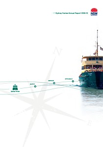 sydney ferries annual report 2010 cover thumbnail