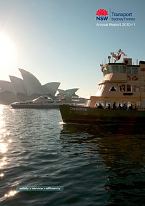 sydney ferries annual report 2011 cover thumbnail