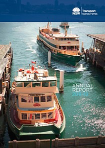 sydney ferries annual report 2012 cover thumbnail